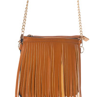 Fringe Me Up Purse in Tan