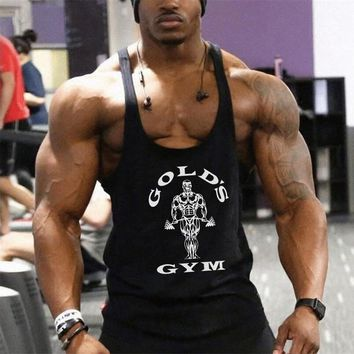 Muscle guys Brand Clothing Cotton bodybuilding tank tops men fitness Golds workout vest male fitness t shirt sleeveless tops