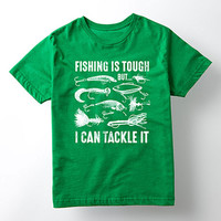 Kelly Green 'Tackle It' Tee - Kids