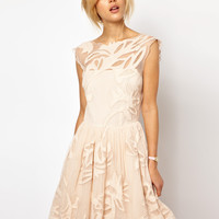 ASOS Gothic Prom Dress - Coral