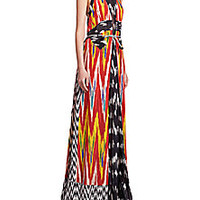 Altuzarra - Peacock Ikat Silk Gown - Saks Fifth Avenue Mobile