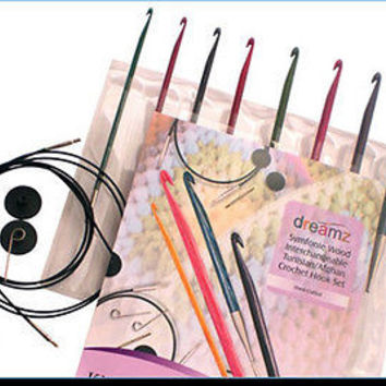 Knitters Pride Dreamz Tunisian Crochet Hook Set with Case