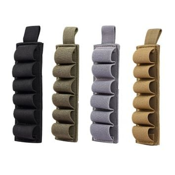 Mayitr New 6 Round Shell 12 Gauge Ammo Carrier Magic Paste Holster Military Carrier Pouch 800D Nylon 16.5 x 5cm