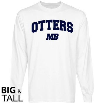 Cal State Monterey Bay Otters Logo Arch Big and Tall Long Sleeve T-Shirt - White