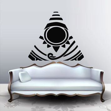 Wall decal decor decals sticker art design vinyl Illuminati all seeing eye annuit coeptis gott druck symbol pyramide triangel (m1127)