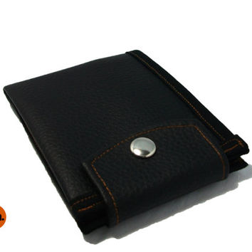 Vegan Wallet, for Man, for Woman, Bifold Wallet, Simple Wallet, Pure Black Wallet for Men, for Women with Coin Pocket, Card Holder UNUSUAL