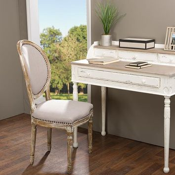 Baxton Studio Anjou Traditional French Accent Writing Desk Set of 1