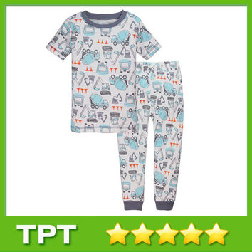2015 New Style Car Cartoon Pattern Purified Cotton Children Sets Short Sleeve O-Neck Children Sets For Boy 15730-26