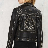 Nasty Gal Who's That Girl Studded Leather Jacket