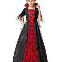 Kids Long Victorian Vampiress Costume - Spirithalloween.com