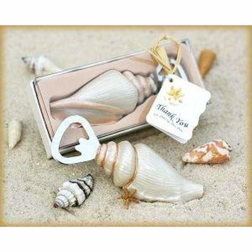 """Wedding Party Favor Gift for Guests --""""Shore Memories"""" Sea Shell Bottle Opener 80pcs/lot"""
