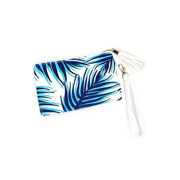 Palm Leaf Mini Clutch
