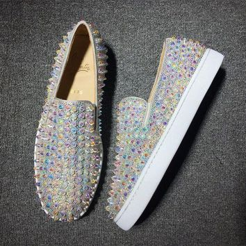 ONETOW Cl Christian Louboutin Roller Style #2086 Sneakers Fashion Shoes