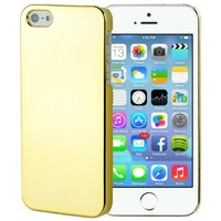 Ultra Slim Hard Case Bumper Cover Gold Chrome for Apple iPhone 5 5S Att, Sprint & Verizon