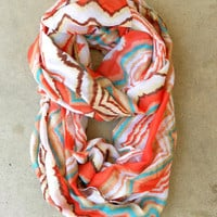 Zig Zag Loop Scarf [3936] - $16.00 : Vintage Inspired Clothing & Affordable Fall Frocks, deloom | Modern. Vintage. Crafted.