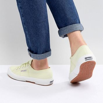 Superga 2750 Canvas Trainers In Yellow at asos.com
