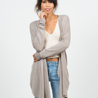 Cozy Open Draped Cardigan