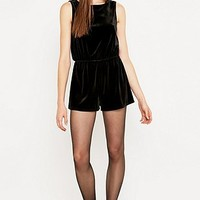 Silence + Noise Too Twisted Velvet Onesuit - Urban Outfitters