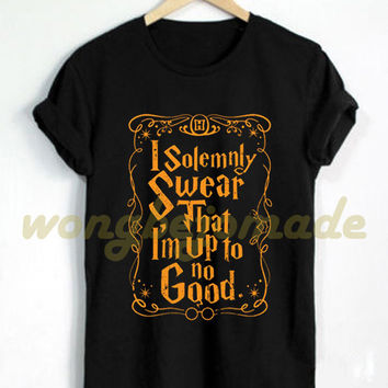 Harry Potter Halloween Shirt I solemnly swear that I am up to no good T Shirt Black and Navy Color T-Shirt Series #3