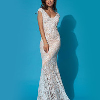 Plunging neckline gown 90897 - Prom Dresses
