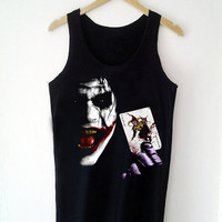Custom Tank top Joker from Batman Funny Shirt  for Tank top Mens and Tank top Girl Size S-XXL by JumatanBro