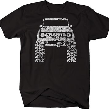 2018 Summer Cool Men Tee Shirt 1960's 70's Car Bronco Lifted Mud Tires Truck Tshirt Funny T-shirt