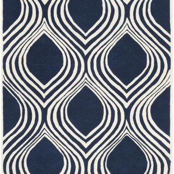 Chatham Transitional Indoor Area Rug Dark Blue / Ivory
