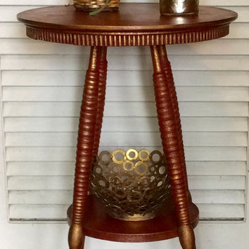 Red Pedestal Table