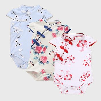 Baby Girl Clothes Summer Baby Rompers 2017 Newborn Baby Clothes Roupas Bebe Infant Baby Girl Dress Kids Clothing for 7-24 Month