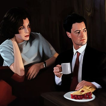 'Twin Peaks: Cherry Pie With Me' Poster by Brad Collins