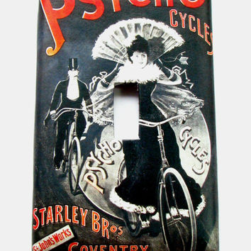 Light Switch Cover - Light Switch Plate Psycho Cycles Vintage Bicycle Ad