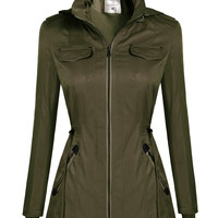 Long-Sleeve Zipper Pocket Jacket
