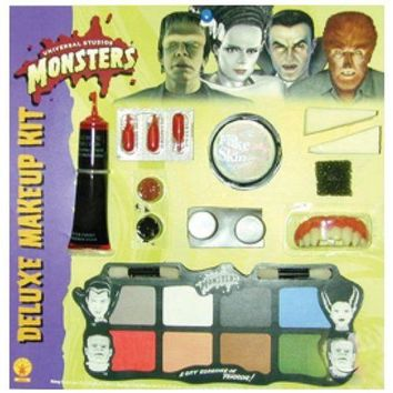 Deluxe Monster Makeup Kit Werewolf Wolfman Dracula Frankenstein Costume Acsry
