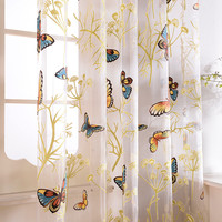Dolce Mela - Fortune Butterflies - Sheer Curtain Panel