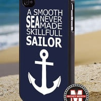 Anchor on blue word quote - iPhone 4/4s/5 Case - Samsung Galaxy S3/S4 Case - Blackberry Z10 Case - Ipod 4/5 Case - Black or White