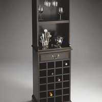 Butler Specialty Rubbed Black Wine Storage Cabinet - 3027234