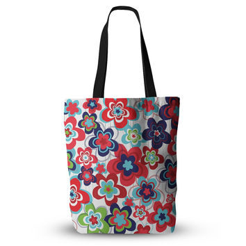 """Jolene Heckman """"A Cheerful Morning"""" Blue Red Everything Tote Bag"""