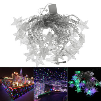 5M LED Pentagram String Fairy Light For Christmas Decoration For Home Wedding Party Decoration enfeites de natal FEN#
