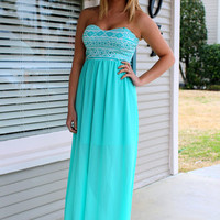 Colors of Spring Maxi Dress- Mint - Hazel & Olive