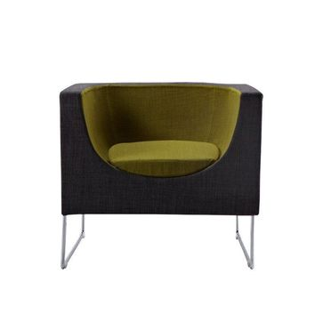 Modrest Tulane Contemporary Grey & Green Accent Chair