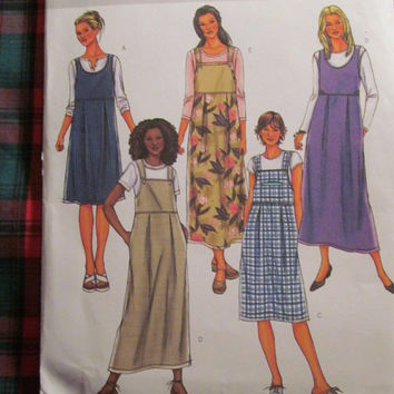 SALE Uncut Butterick Sewing pattern, 4223! 14-16-18 Medium/Large/XL/Women's/Misses Jumper Dress/Maternity or Casual/Short or Long/Spring/Sum