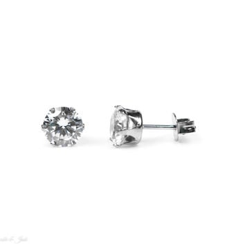 7mm Stainless Steel Stud Earrings