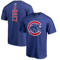 Javier Baez Chicago Cubs Fanatics Branded Backer T-Shirt - Royal