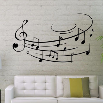 Treble Clef Wall Decals Music Notes Decal Art Home Bedroom Decor Sticker MR518