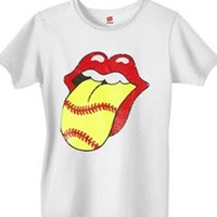 Diamond Duds, LLC - Rock and Roll Softball T Shirt #