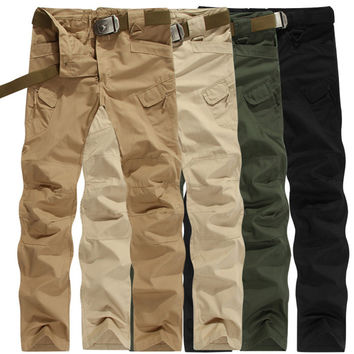 IX7 Militar Tactical Cargo Outdoor Pants Men Combat SWAT Army Training Military Pants Cotton Hunting Hike Outdoors Sport Trouser