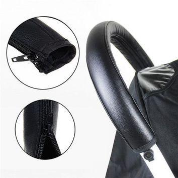 Pram Stroller Accessories Baby Stroller Armrest Pu Protective Case Cover For Armrest Covers Handle Wheelchairs