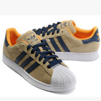 """Adidas"" Fashion Shell-toe Flats Sneakers Sport Shoes Yellow"
