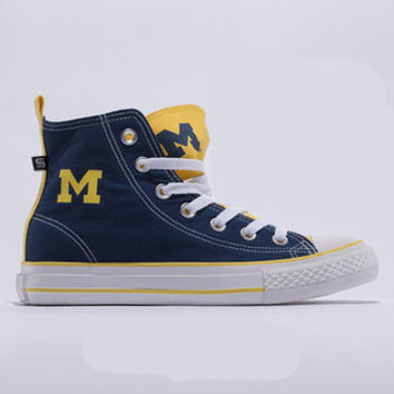 Michigan Wolverines Official NCAA Skicks Unisex High Top Sneakers - 2
