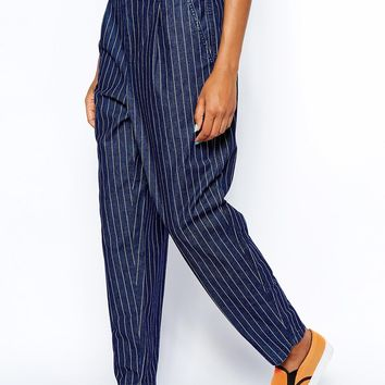 Monki Stripe Denim Jeans